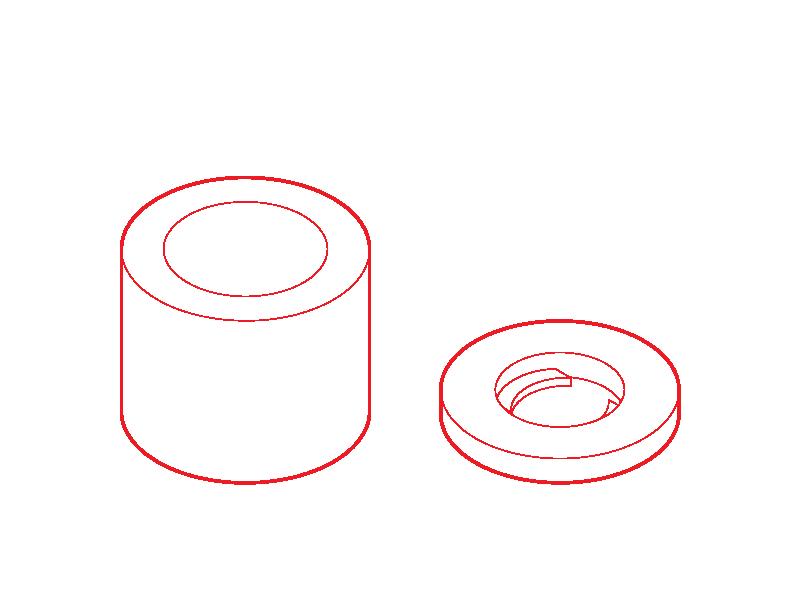Distanser och brickor